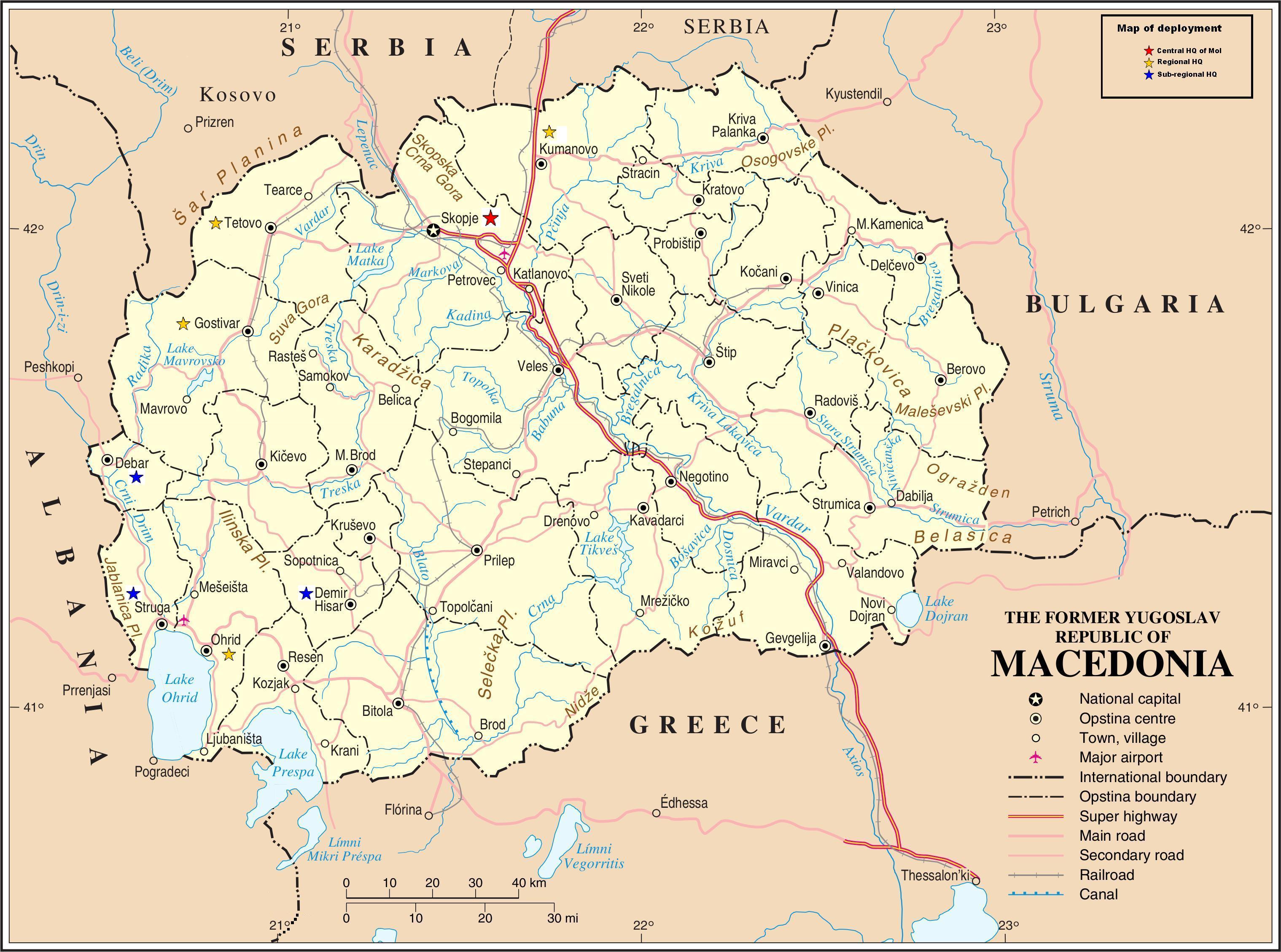 Karta Makedonija Magazin Info